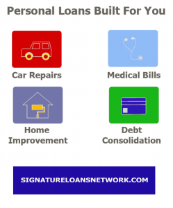 Bad Credit Signature Loans Banner